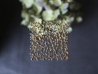 Brass brooch「Midnight dream」の画像