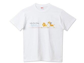 """リトルジャン""""逃げるが勝ち"""" 半袖Tシャツ/カットソー フリーサイズ アパレル/アニマルモチーフの画像"""