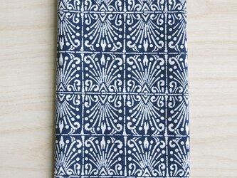 天然藍の型染め手拭い 噴水の画像