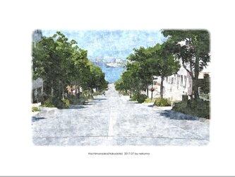 函館・八幡坂(油絵風)の画像
