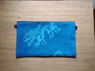 藍染めポーチ<辰>の画像