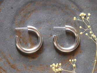フープピアス (太太)両耳用 silver製/受注制作の画像