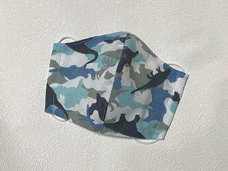 大人用(大きめ)立体マスク カモフラダイナソーの画像
