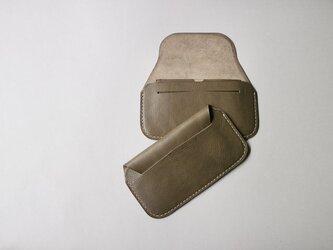 手縫い長財布 OLIVE(牛革)の画像
