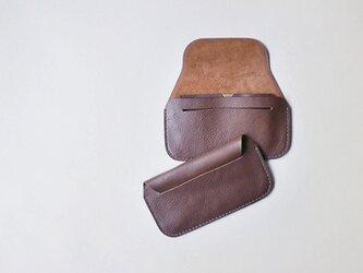 手縫い長財布 CHOCOLATE(牛革)の画像