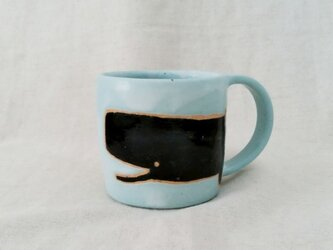 くじらマグカップ(青)の画像