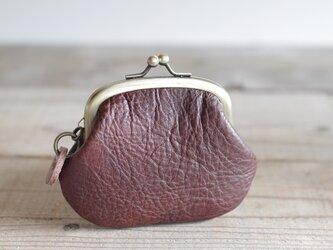 イタリアンヌメ革 がま口 チョコの画像