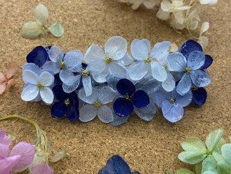 夏空ブルースカイ  紫陽花バレッタ 新色⸜(๑'ᵕ'๑)⸝の画像