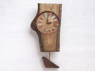陶板の文字盤の振子時計 その8の画像