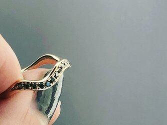 Greem forest k10 diamond ringの画像
