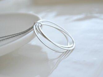 hoops〜シルバーフープロングネックレスの画像