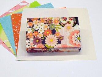 はこせこ風ティッシュケース【紫花満開】の画像