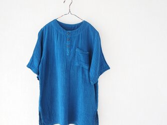 再販・ふわっとダブルガーゼのクルタ・本藍染めの画像