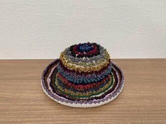 コットン毛糸の帽子の画像
