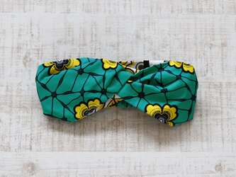 アフリカ布のヘアターバン 幅広ボリューム / パーニュ / アフリカンプリントの画像