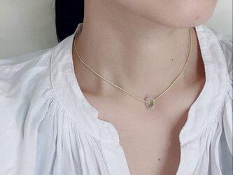 陶器パーツのネックレスの画像