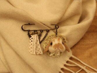 羊毛うさぎサン☆ストールピン ホーランドロップの画像