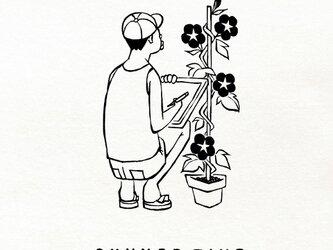 『アサガオ観察/男子』Tシャツ / メンズ レディース 大人サイズ ペアありますの画像