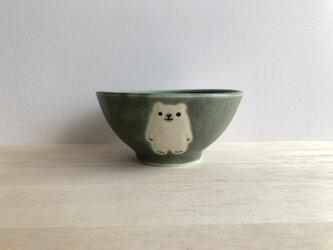 小さめ茶碗(グリーン)の画像