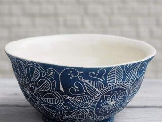 青いお茶碗(3)の画像
