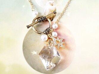 ダイヤ・スワロフスキー・ネックレスの画像
