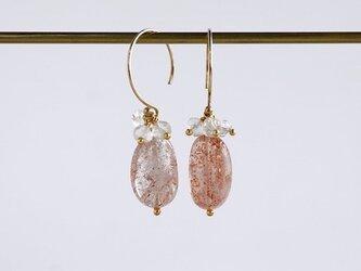Sunstone earrings [OP803]の画像