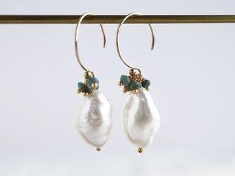 Baroque pearl earrings [OP806]の画像