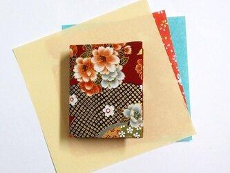 和物カードケース40枚入【紅牡丹】の画像