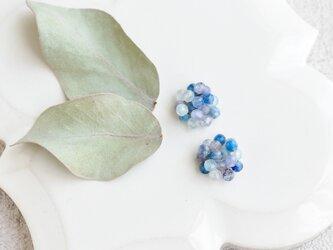 紫陽花 ブルー/イヤリングの画像