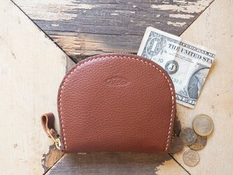 Semicircle Small wallet (camel)の画像