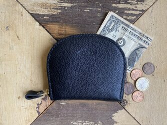 Semicircle Small wallet (Black)の画像