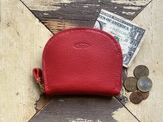 Semicircle Small wallet (RED)の画像