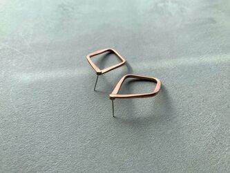 rhombus〜コッパー♢スタッドピアスの画像