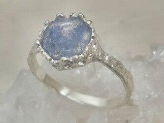 デュモルチェライトinクォーツ*925 lace ringの画像