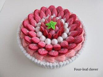 《直径17.5㎝》ブランチケーキ(ホワイト×いちごクリーム)の画像