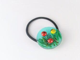てんとう虫の髪飾り ヘアゴム(クリアー)の画像
