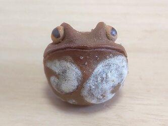 ちびカエル*焼き締めガエルの画像