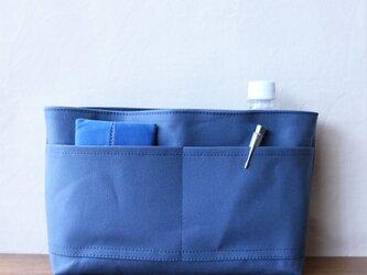 ブルーグレー 倉敷産帆布使用バッグインバッグ【受注製作】の画像