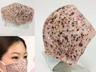 革のマスクカバー/花柄/KISEKAE MASK COVER/革マスク/重ねマスク/お洒落/目立つ/の画像