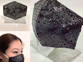革のマスクカバー/パイソン柄/KISEKAE MASK COVER/革マスク/重ねマスク/お洒落/目立つ/の画像