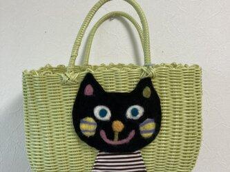 koruri × workshopcolore カゴバッグ 猫の画像