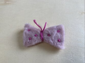 蝶々ブローチ ピンクの画像