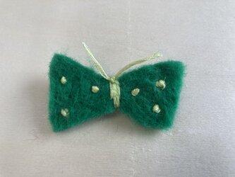 蝶々ブローチ 緑の画像