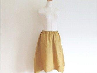 ミモザ* リネンのヘムラインバルーンスカートの画像