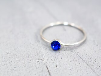 Something Blue Ring ~マジェスティックブルー、シルバー金具~の画像