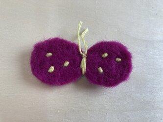 蝶々ブローチ 紫の画像