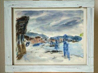 台風の三浦海岸(額無し)の画像