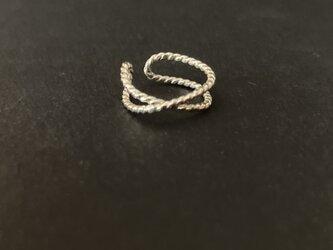◇ twist cross ◇ シルバーのイヤーカフ silver ear cuffの画像