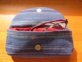 送料無料 会津木綿の眼鏡ケースの画像