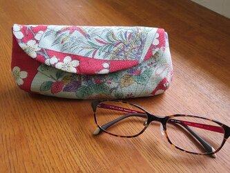 送料無料 花柄ちりめんの眼鏡ケースの画像